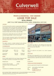 LEASE FOR SALE - Culverwell