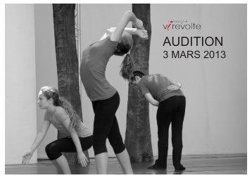 AUDITION - Atelier Manon Hotte