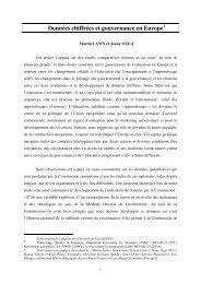 Données chiffrées et gouvernance en Europe - AFAE