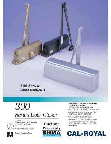 700 Series Door Closer New Fp Cal Royal