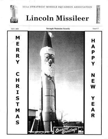 Lincoln Missileer - Number 7 - Atlas Missile Silo