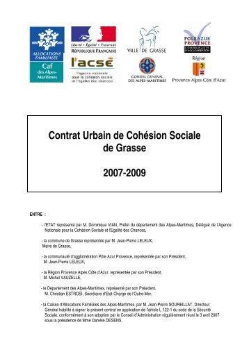 Contrat Urbain de Cohésion Sociale de Grasse 2007 ... - CRPV-PACA
