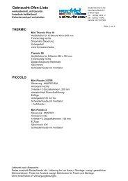 Gebraucht-Ofen-Liste - wachtel