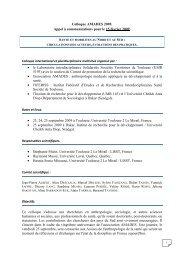 appel a comm Colloque 16 Octobre 2008 - Amades - Hypotheses
