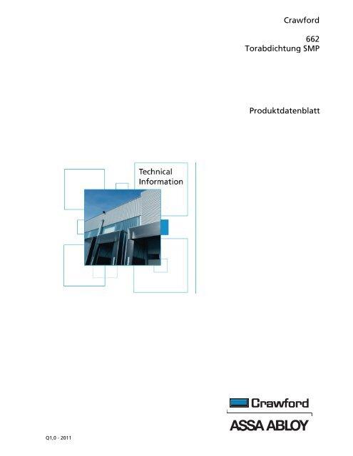 Crawford 662 Torabdichtung SMP Produktdatenblatt - Crawford hafa ...
