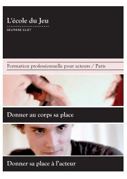 brochure institutionnelle - Ecole du jeu