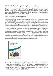 16. Sociální psychologie – skupiny a organizace Skupina a ...