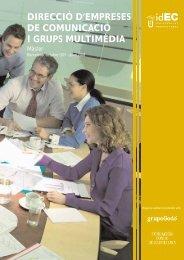 direcció d'empreses de comunicació i grups multimèdia - IDEC ...