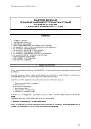 CONDITIONS GENERALES DU CONTRAT D ... - Smeno
