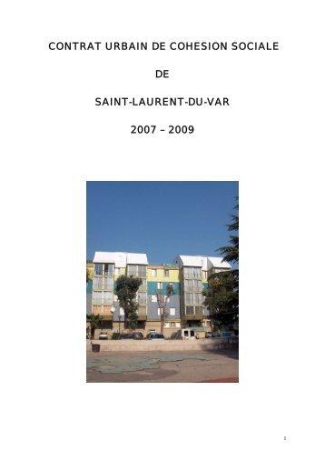 contrat urbain de cohesion sociale de saint-laurent ... - CRPV-PACA