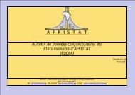 Bulletin de Données Conjoncturelles des États membres d ... - Afristat