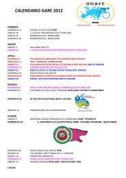 CALENDARIO GARE 2012 UFFICIALE.pdf - Ruote Amatoriali