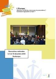 Rencontres de Dunkerque - déc 2010 - L'Europe - Réseau National ...