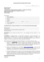 DICHIARAZIONE LIBERATORIA RADIO 1 - MUSICLETTER.it