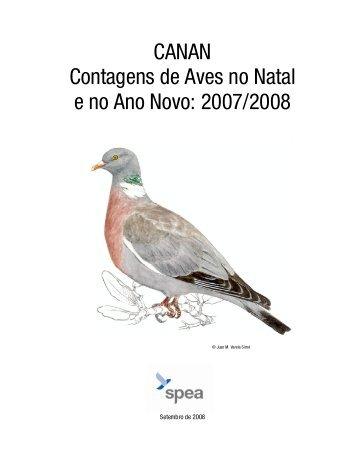 CANAN Contagens de Aves no Natal e no Ano Novo: 2007 ... - spea