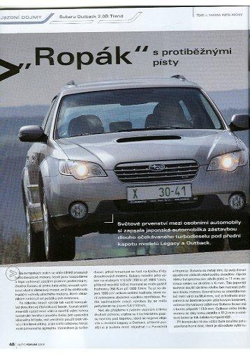 Tisk faxu na celou stránku - Subaru