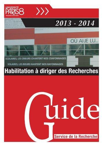 Habilitation à diriger des Recherches - Université Paris 8