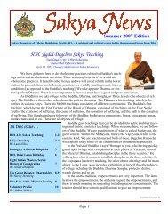 Sakya News 2007 - H.pub - the Sakya Monastery of Tibetan Buddhism