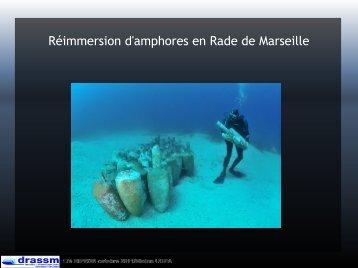Réimmersion d'amphores en Rade de Marseille