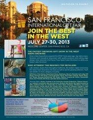 July 2013 - San Francisco International Gift Fair