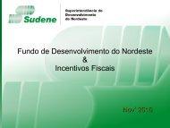 incentivos e benefícios fiscais - Sudene