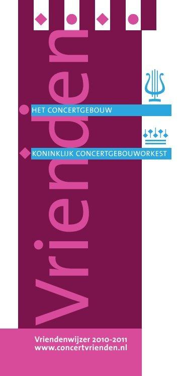 Vriendenwijzer 2010-2011:Opmaak 1 - Concertgebouw