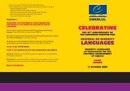 CELEBRATING LANGUAGES