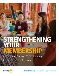 STRENGTHENING YOUR MEMBERSHIP