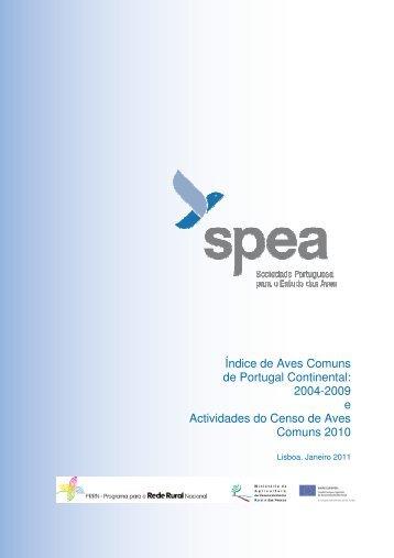 Índice de Aves Comuns de Portugal Continental: 2004-2009 ... - spea
