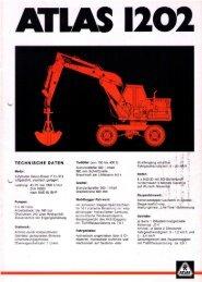 Technische Daten Prospekt AB 1202 von 1975 - ATLAS ...