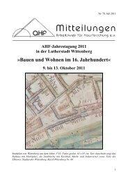 Bauen und Wohnen im 16. Jahrhundert« - Arbeitskreis für ...