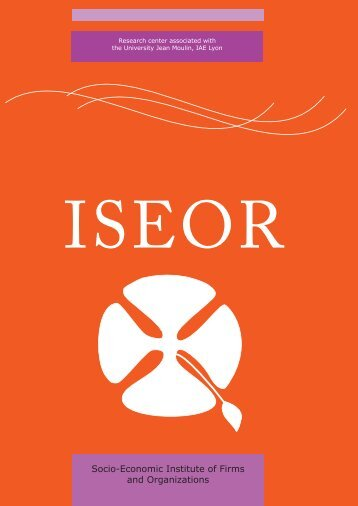 Socio-Economic Institute of Firms and Organizations - ISEOR