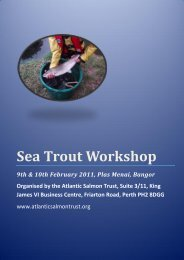 Sea Trout Workshop - The Atlantic Salmon Trust