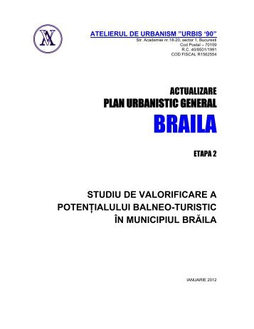 STUDIU TURISM pug braila_final.pdf - Primaria Braila
