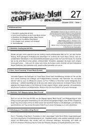 Sonntaktsblatt 27, Ausgabe Oktober 2005 - Arbeitskreis Neues ...