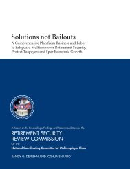 Solutions not Bailouts - NCCMP