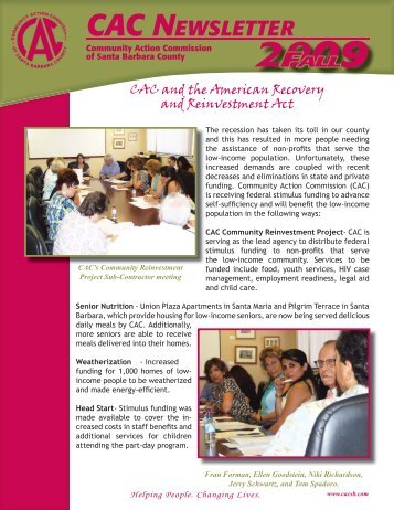 CAC NEWSLETTER - Community Action Commission