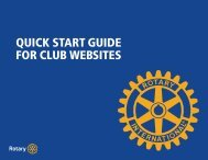 QUICK START GUIDE FOR CLUB WEBSITES