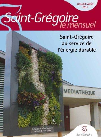 Saint-Grégoire, le Mensuel Juillet Aout 2011