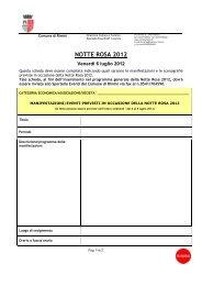 Programma Notte Rosa organizzatori privati per ... - Rimini Turismo