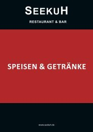 SpeiSen & Getränke SEEKUH RESTAURANT & BAR