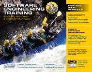 SOFTWARE ENGINEERING TRAINING - SQE.com