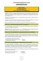 compte-rendu du conseil municipal du 10 novembre 2011