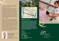 Info-Flyer Orthopädische Rehabilitation - Vesalius-Klinik