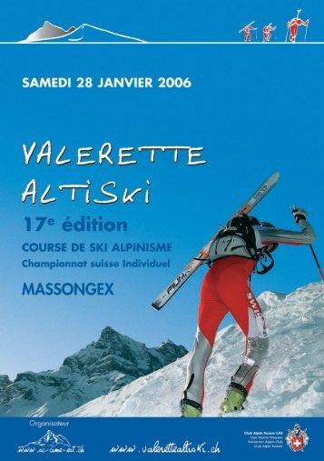 carnet de fete 2006 - VALERETTE ALTISKI
