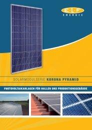 SOLARMODULSERIE KORONA PYRAMID - ELF Energie