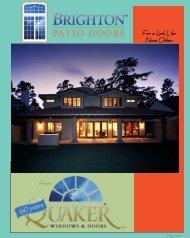 Brighton Patio Door Brochure - Quaker Windows and Doors