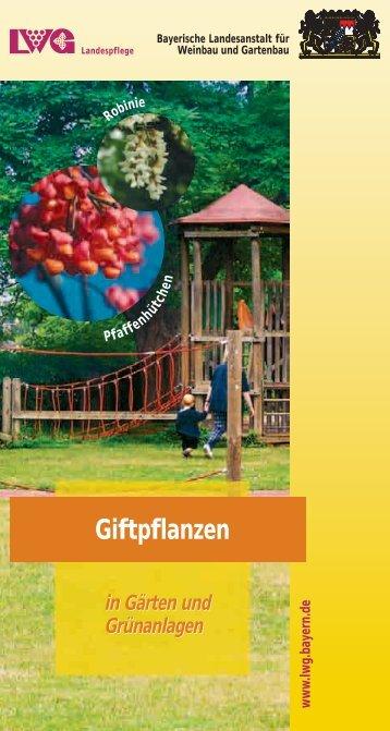 Giftpflanzen in Gärten und Grünanlagen - Bayerische Landesanstalt ...