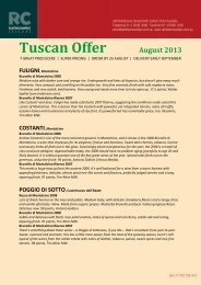 Tuscan Offer - Aug 2.. - Rathdowne Cellars