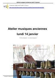 Atelier musiques anciennes lundi 14 janvier - Le collège Saint ...